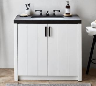 "Pottery Barn Austen 36"" Concrete Top Single Sink Vanity"