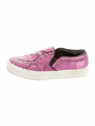 Celine Python Slip-On Sneakers Pink
