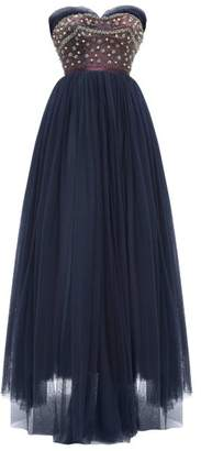 Couture William Vintage - Jacques Heim 1955 Haute Beaded Gown - Womens - Navy