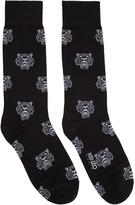 Kenzo Black Allover Tiger Socks