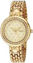 Burgi Women's Quartz Stainless Steel Casual Watch, Color:Gold-Toned (Model: BUR170YG)