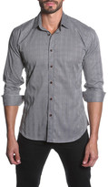 Jared Lang Plaid Semi-Fitted Long Sleeve Shirt