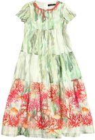 Miss Blumarine Coral Printed Cotton Muslin Maxi Dress