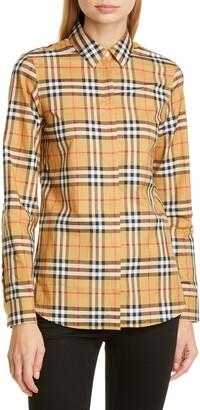 Burberry Crow Vintage Check Cotton Shirt