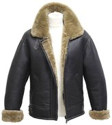 Infinity Men's Vintage 'Air Force' Sheepskin Flying Leather Jacket with Ginger Fur 5XL