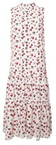 Dorothy Perkins Womens Billie & Blossom Rose Spot Print Tierred Midi Dress