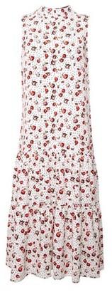 Dorothy Perkins Womens Billie & Blossom Rose Spot Print Tierred Midi Dress