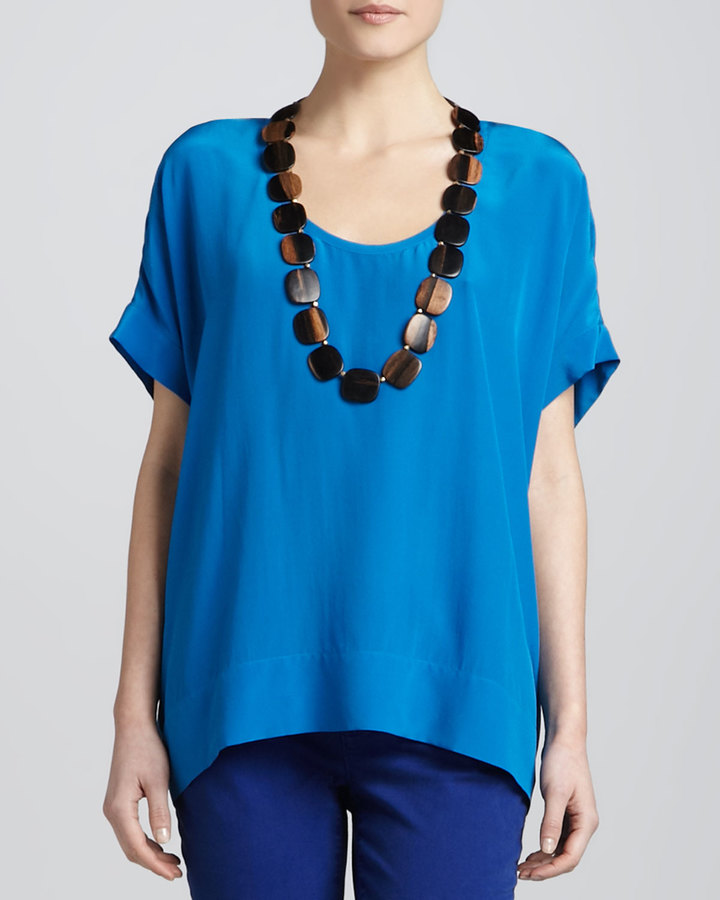 Eileen Fisher Silk Box Top