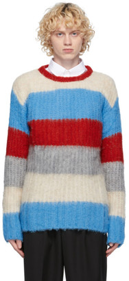 MAISON KITSUNÉ Blue Alpaca Stripe Sweater