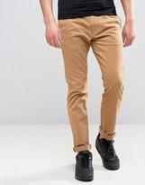 Hollister Skinny 5 Pocket Trousers In Beige