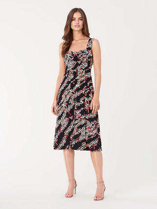 Diane von Furstenberg Juliet Crepe-Blend Midi Dress