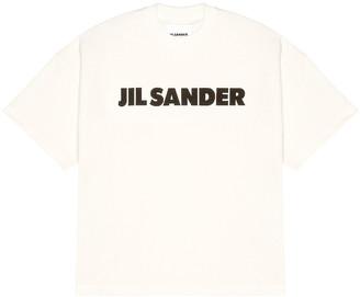 Jil Sander Logo Tee in Off White | FWRD