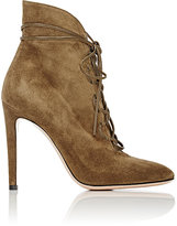 Gianvito Rossi Women's Lace-Up Ankle Boots-GREEN
