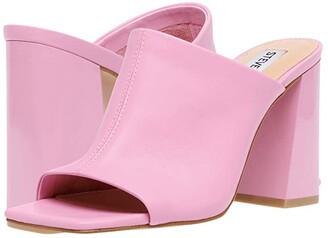 Steve Madden Tule Heeled Sandal (Pink Leather) Women's Shoes
