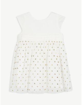 Petit Bateau Sequined cotton dress 6-36 months