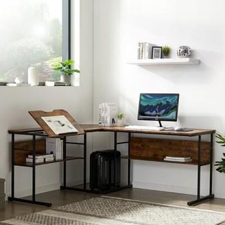Inbox Zero Office L-Shape Desk