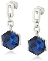 """Kenneth Cole New York Sapphire Lights"""" Faceted Stone Drop Earrings"""