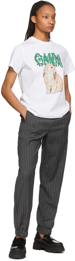 Thumbnail for your product : Ganni Grey Stripe Suiting Trousers