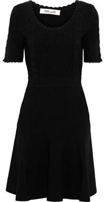 Diane von Furstenberg Lark Scalloped Ponte Mini Dress