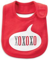 "Carter's ""XOXO"" Bib in Red"