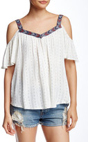Jolt Cold Shoulder Woven Blouse