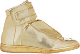 "Maison Margiela Men's Men's Stamped Leather ""Future"" Ankle-Strap Sneakers-GOLD"