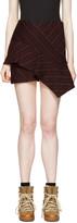 Isabel Marant Burgundy Pinstripe Kimura Miniskirt