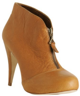 Cynthia Vincent chocolate leather 'Allison' ankle boots