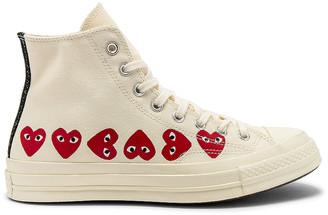 Comme des Garcons Emblem Hi Top Sneaker in Off White | FWRD