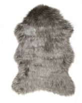Luxe Gordon Faux Fur Sheepskin 2-Foot x 3-Foot Shag Rug/Throw in Grey