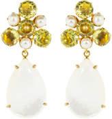 Bounkit Jewelry Lemon Quartz and Pearl Earrings