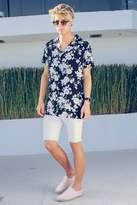 boohoo Skinny Fit White Denim Shorts in Mid Length white