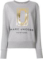 Marc Jacobs Logo Print Cotton Crewneck Sweatshirt