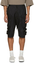 Unravel Black Tech Cargo Shorts