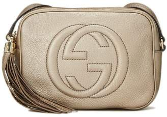 Gucci Gold Metallic Soho Disco Bag