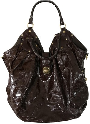 Louis Vuitton Mahina Brown Patent leather Handbags
