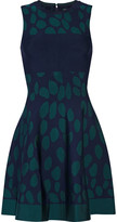 Issa Printed stretch jacquard-knit dress