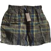 Burberry Cotton and linen mini-skirt