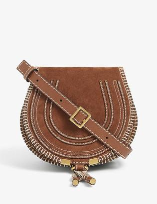 Chloé Marcie small suede shoulder bag