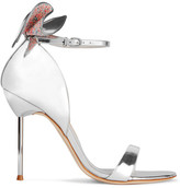 Sophia Webster Maya Bow-embellished Metallic Leather Sandals - Silver