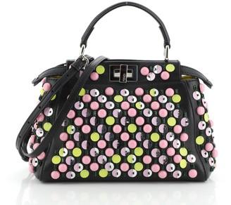 Fendi Peekaboo Bag Studded Leather Mini
