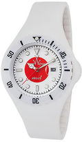 Toy Watch ToyWatch JYF04JP Unisex Jelly White Silicone White and Red Dial White
