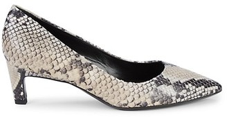 Aquatalia Marianna Textured Leather Pumps