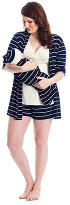 Everly Grey Adaline Maternity/Nursing Mommy Me Five-Piece PJ Set (Navy) Women's Pajama Sets