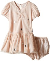 Stella McCartney Missy Cap Sleeve Star Print Tulle Dress Girl's Dress