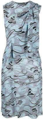 Alberta Ferretti Heart Logo Silk Dress