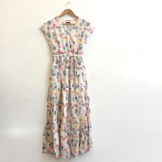Lowie Shell Print Tiered Maxi Dress - S