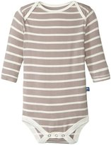 Kickee Pants Print One Piece (Baby) - Feather/Natural Stripe - 6-12 Months