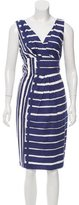 Max Mara Striped Sheath Dress