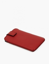 Smythson Red Panama Grained Leather iPhone 5 Case